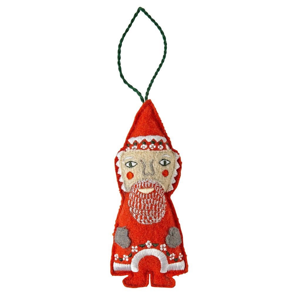 Santa Holiday Helper Christmas Ornament