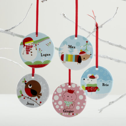 Kids Ornaments: Colorful Personalized Ornaments - Personalized Dog Ornament