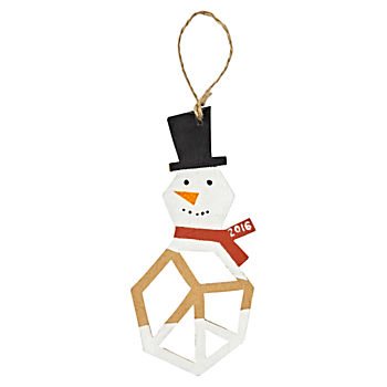 Jolly Geo Snowman 2016 Ornament