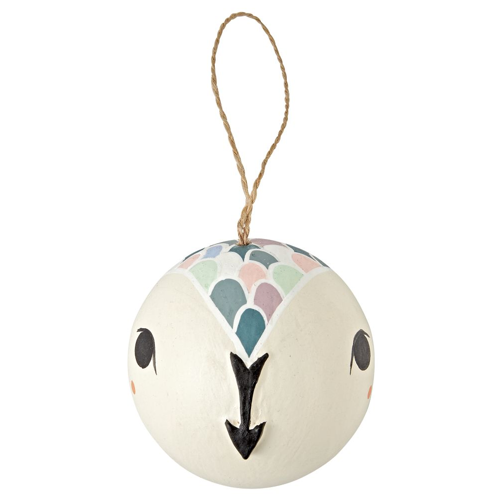 Merry Meadow Snow Owl Ornament