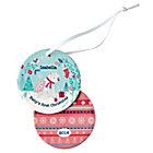 You Name It Pink Baby's First Ornament by Bethan Janine