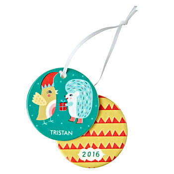 You Name It Hedgehog Ornament by Sarah Walsh