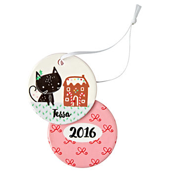 You Name It Black Cat Ornament by Jillian Phillips