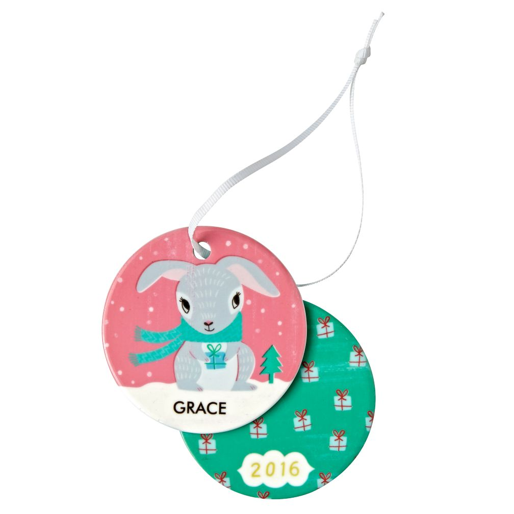 You Name It Bunny Ornament by Sarah Walsh