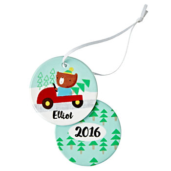 You Name It Driving Bear Ornament by Jillian Phillips