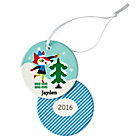 You Name It Fox and Tree Ornament by Amy Blay