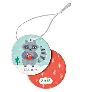 You Name It Racoon Ornament by Sarah Walsh
