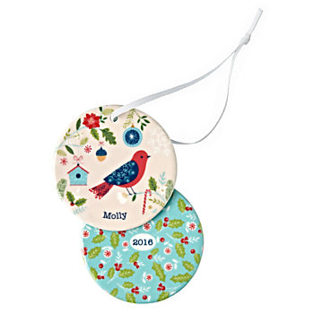You Name It Red Bird Ornament by Bethan Janine