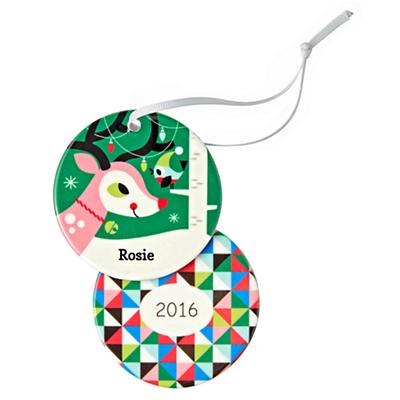 You Name It Reindeer and Bird Ornament by Amy Blay
