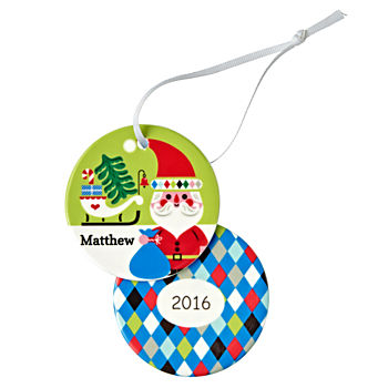 You Name It Santa Ornament by Amy Blay