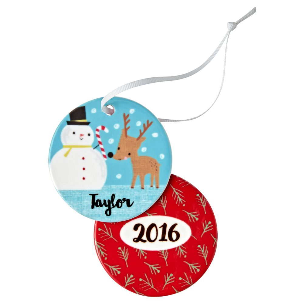 You Name It Snowman Deer Ornament by Jillian Phillips