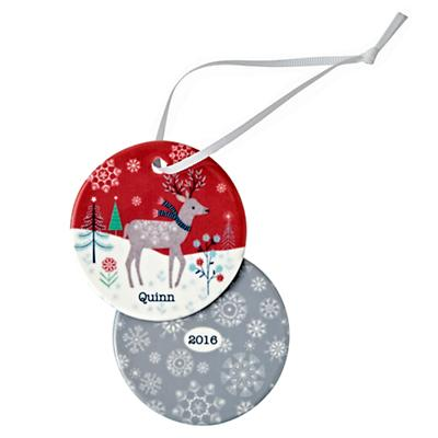 You Name It Winter Deer Ornament by Bethan Janine