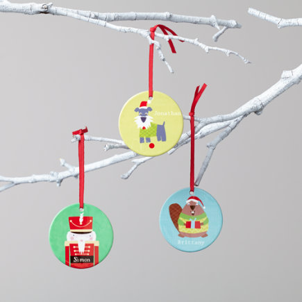 Kids Ornaments: Colorful Personalized Ornaments - Personalized Beaver Ornament Vicky Barone