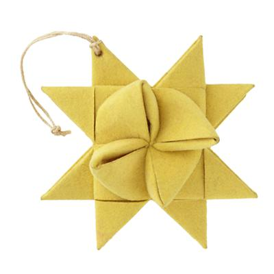 Yellow Supernova Ornament