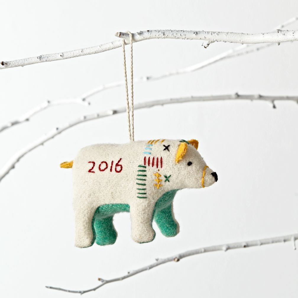 Polar Bear 2016 Ornament