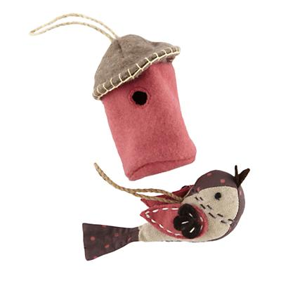 Pink Tweet Life Ornaments (Set of 2)