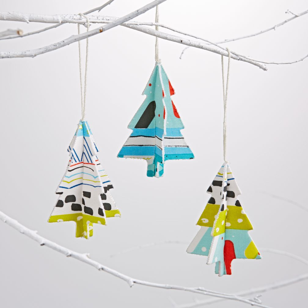 Blue Sweet Tree Ornaments (Set of 3)