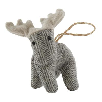 Winterland Plush Animal Ornament (Moose)