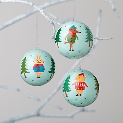 Winterland Ornaments (Set of 3)