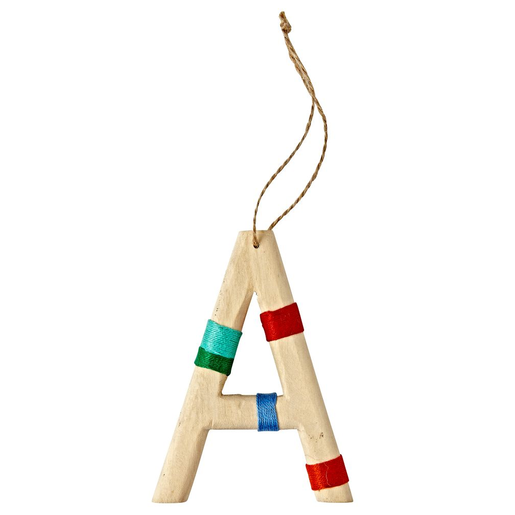 Wooden Letter A Ornament