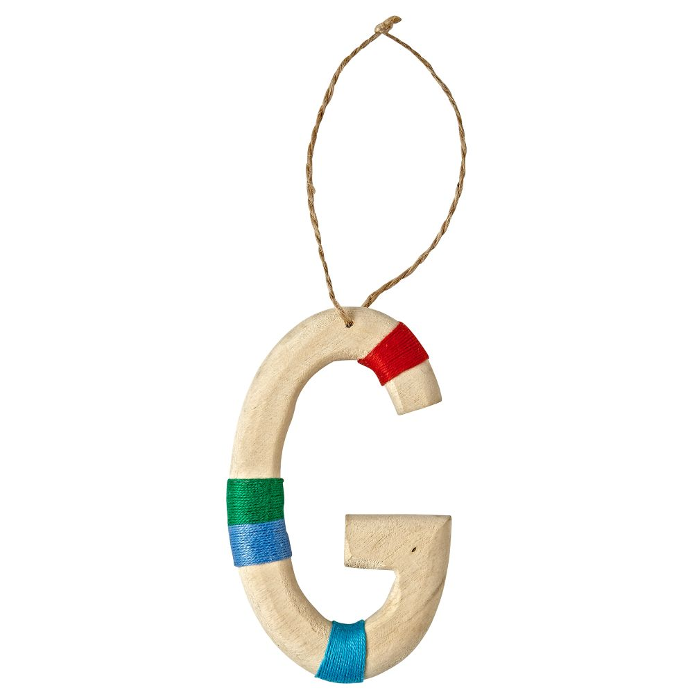 Wooden Letter G Ornament