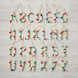 Wooden Letter Ornaments
