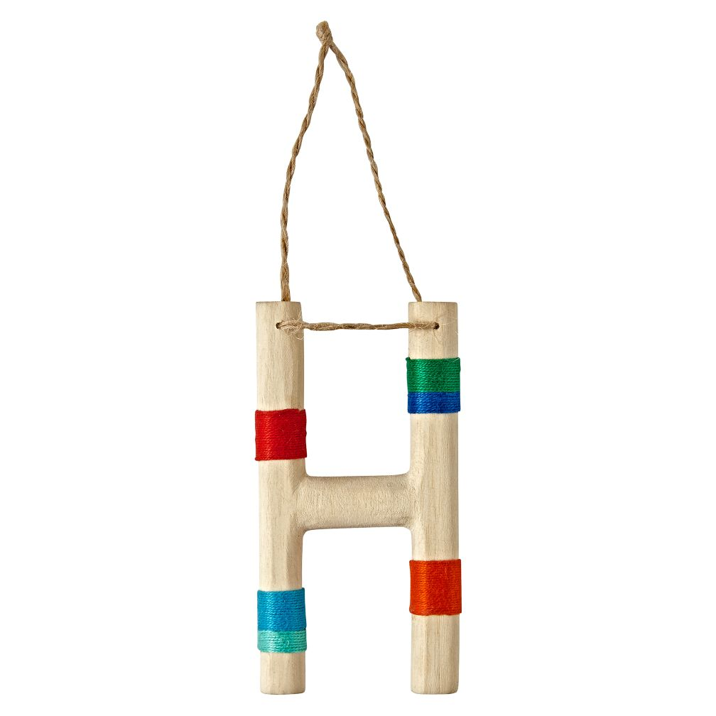 Wooden Letter H Ornament