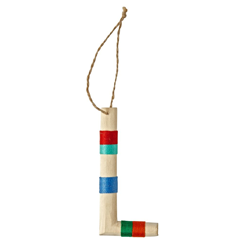 Wooden Letter L Ornament