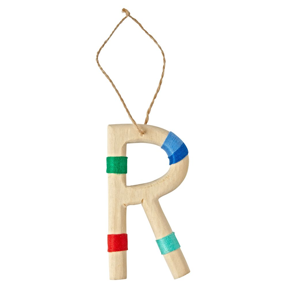 Wooden Letter R Ornament