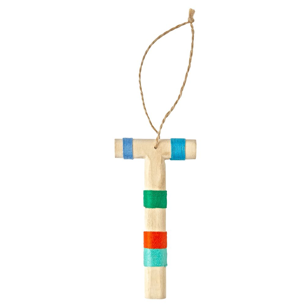 Wooden Letter T Ornament