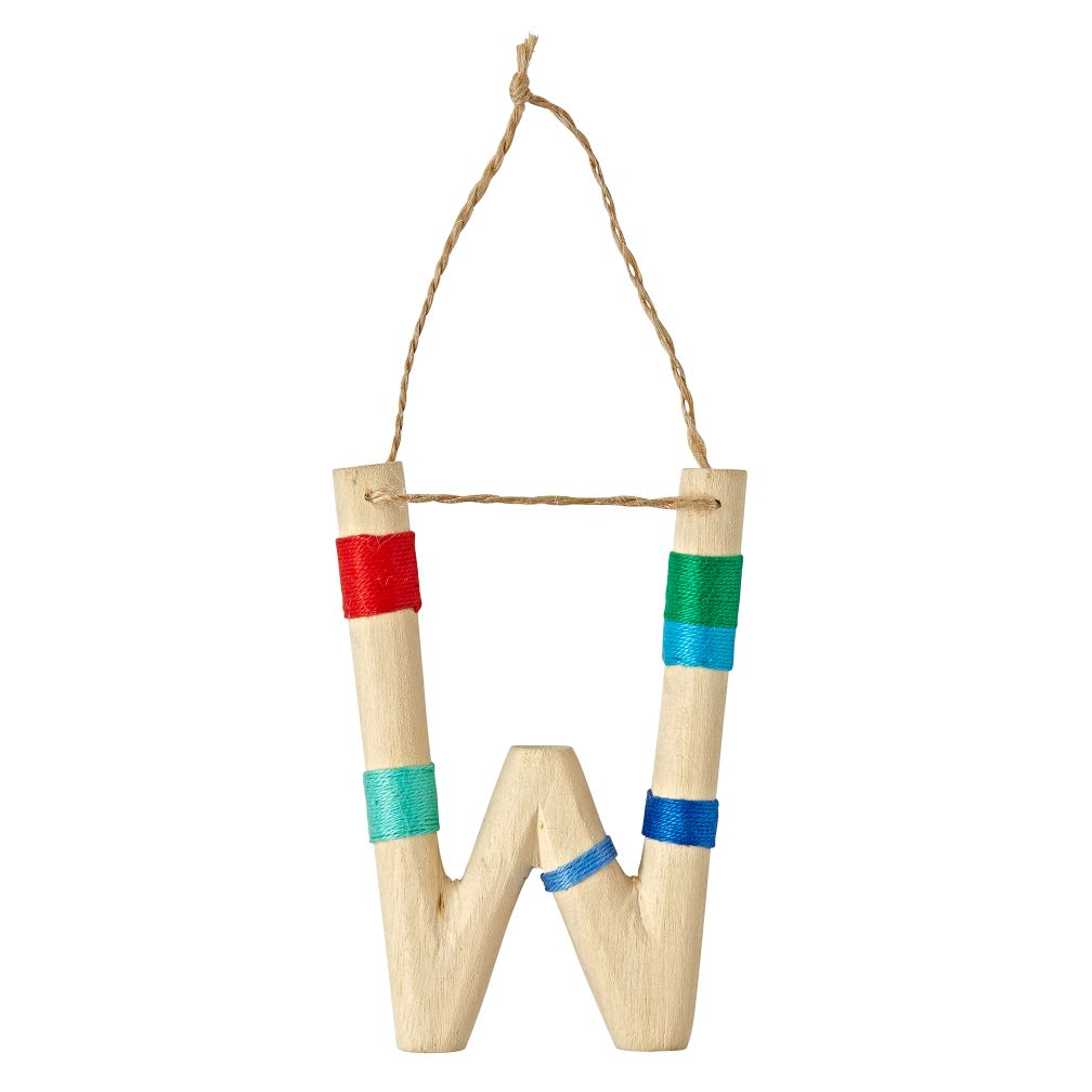 Wooden Letter W Ornament