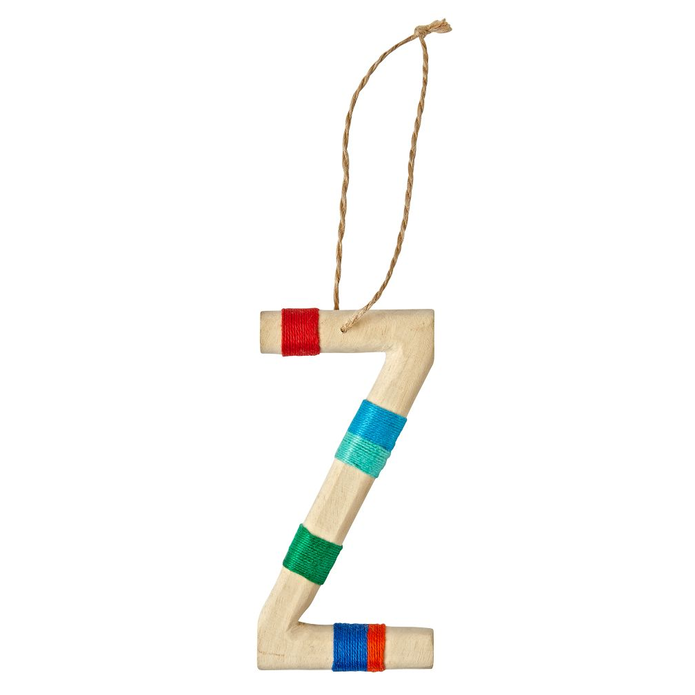 Wooden Letter Z Ornament