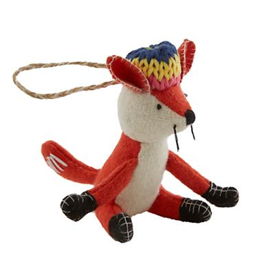 Woodland Prep Ornament (Fox)