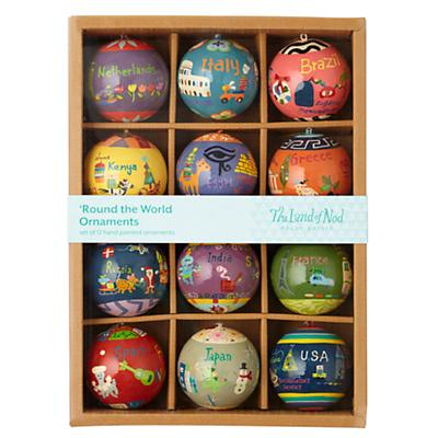Round the World Ornaments (Set of 12)