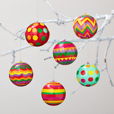 Wrapping Paper Ornaments (Set of 6)