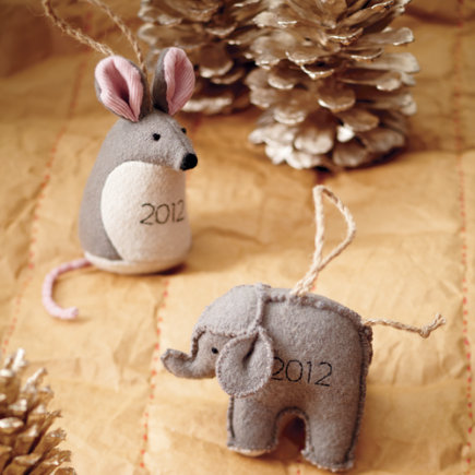 Kids Ornaments: Babys First Christmas Ornaments - Babys First Mouse Ornament 2012