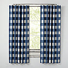 "63"" Buffalo Check Blue Blackout Curtains(Sold Individually)"