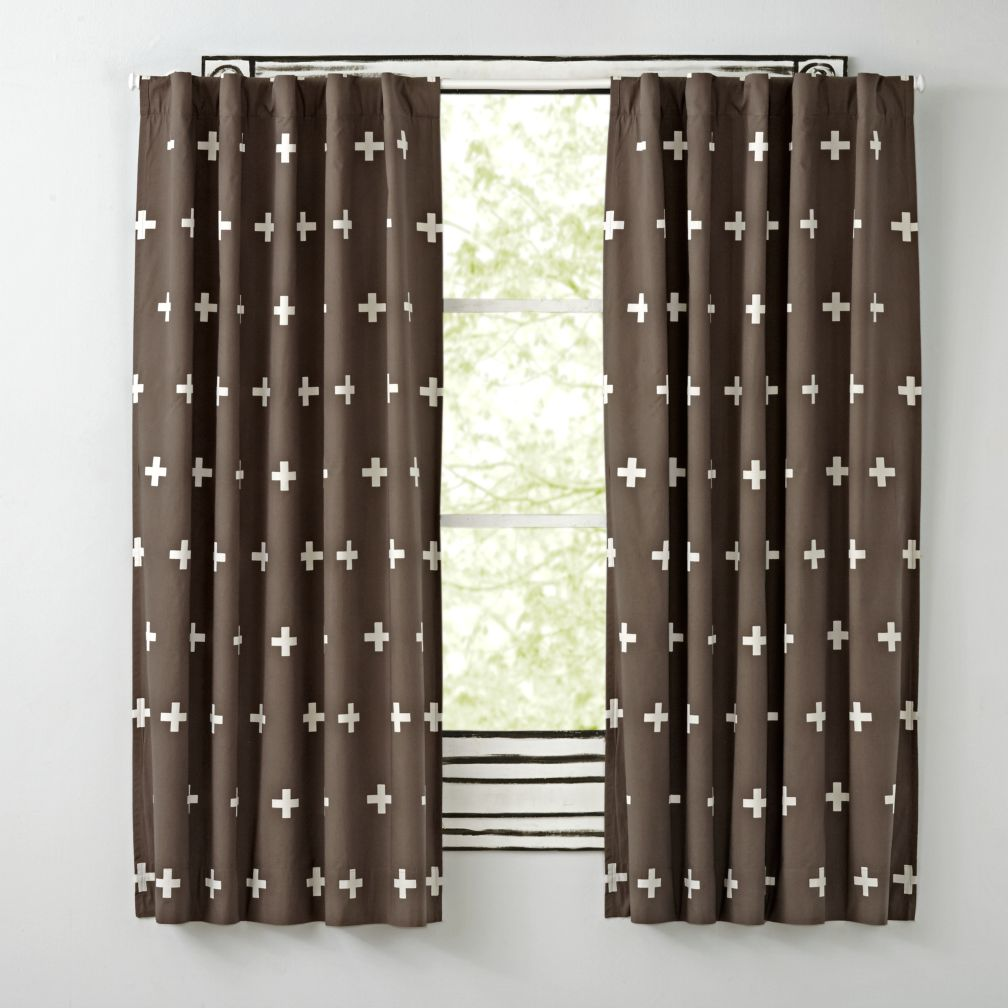 "96"" Grey Positive Blackout Curtain"