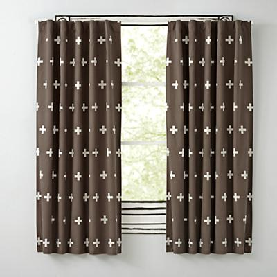 "63"" Grey Positive Blackout Curtain"