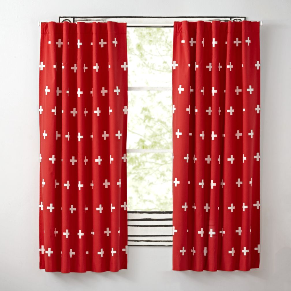 Red Positive Blackout Curtains