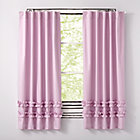 """63"""" Lavender Ruffle Curtain(Sold Individually)"""