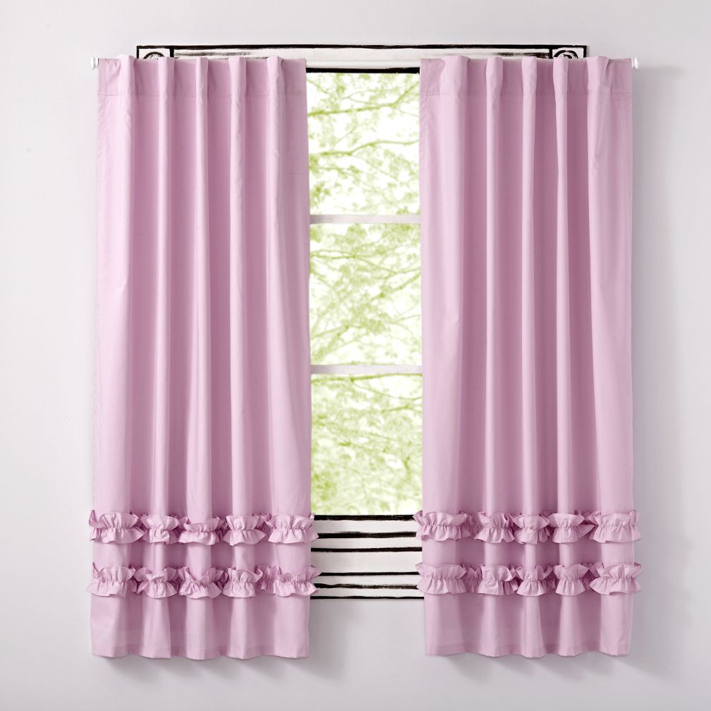 Lavender Ruffle Curtains