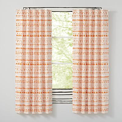 "96"" Wild Excursion Orange Curtain"