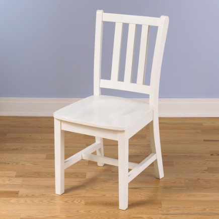 Kids Desk Chairs: Kids Wooden Classic Parker Desk Chairs - White Desk Chair Floor to Seat: 18 H