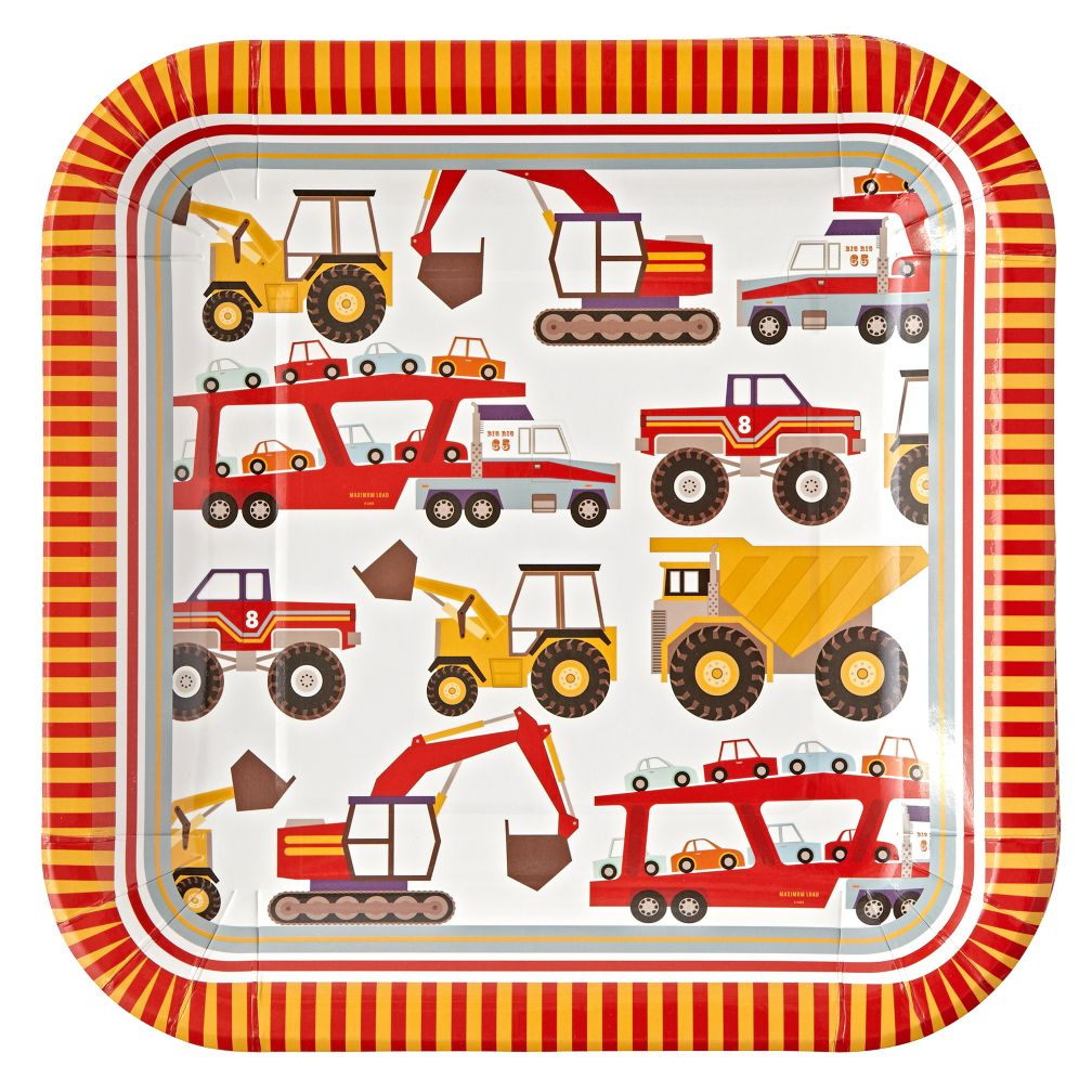 Construction Large Plates (Set of 12)