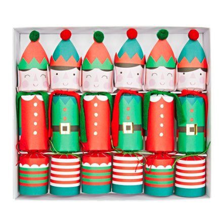 - Christmas Elf Crackers Set/6