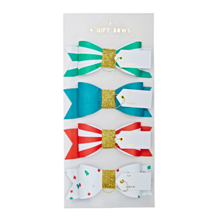 - Christmas Bow Gift Tags Set/4