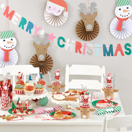 Kids Christmas Party Decorations - Christmas Party Basic Kit