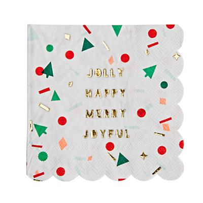 Be Merry Christmas Party Napkins (Set of 16)