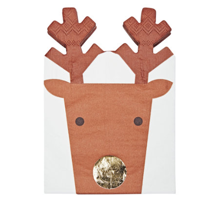 - Christmas Reindeer Party Napkins Set/16